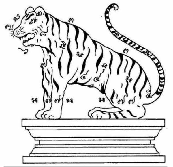 ยันต์พญาเสือ ความหมาย ความเชื่อ คนเกรงขาม เดินป่าป้องกันสัตว์ร้าย